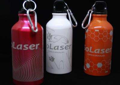 Garrafas térmicas c/ gravação a laser