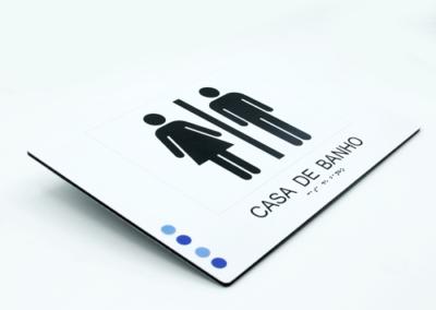 Dibond c/ impressão digital UV 3D (braille)